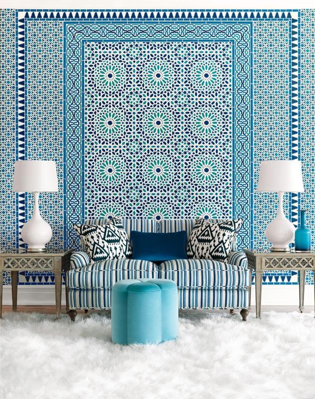 styl grecki - Chambre Orientale Bleue