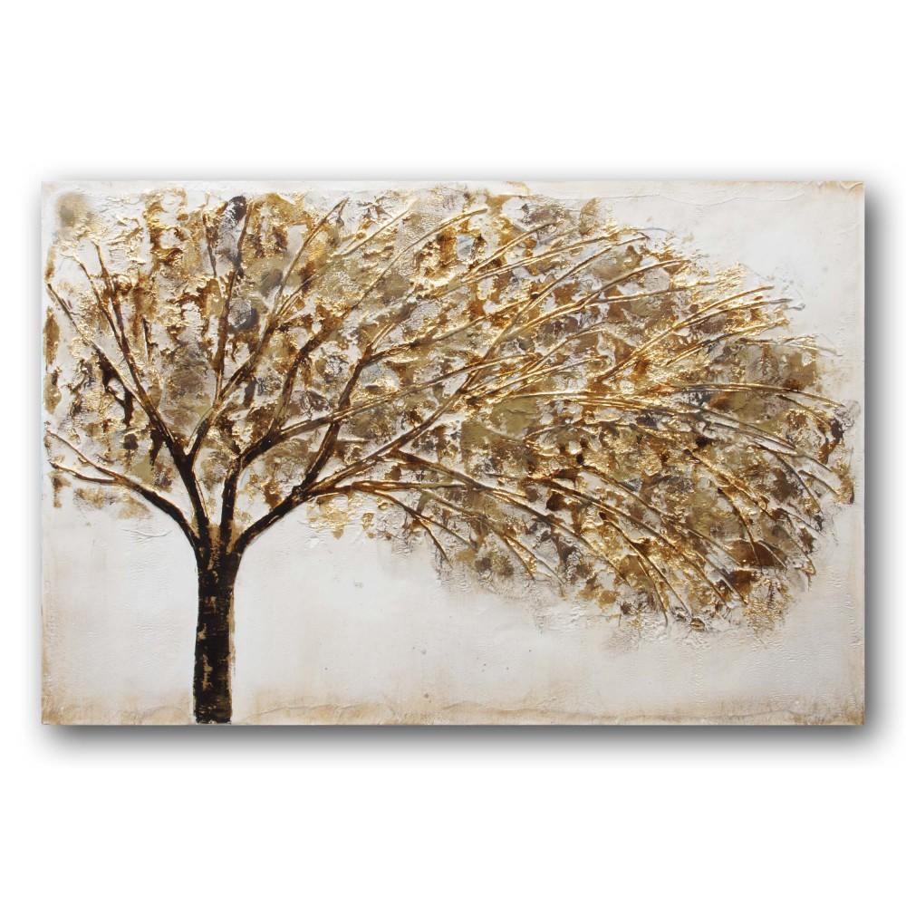 Zlote Drzewo Obraz Olejny Malowany Recznie Na Plotnie Arte Home