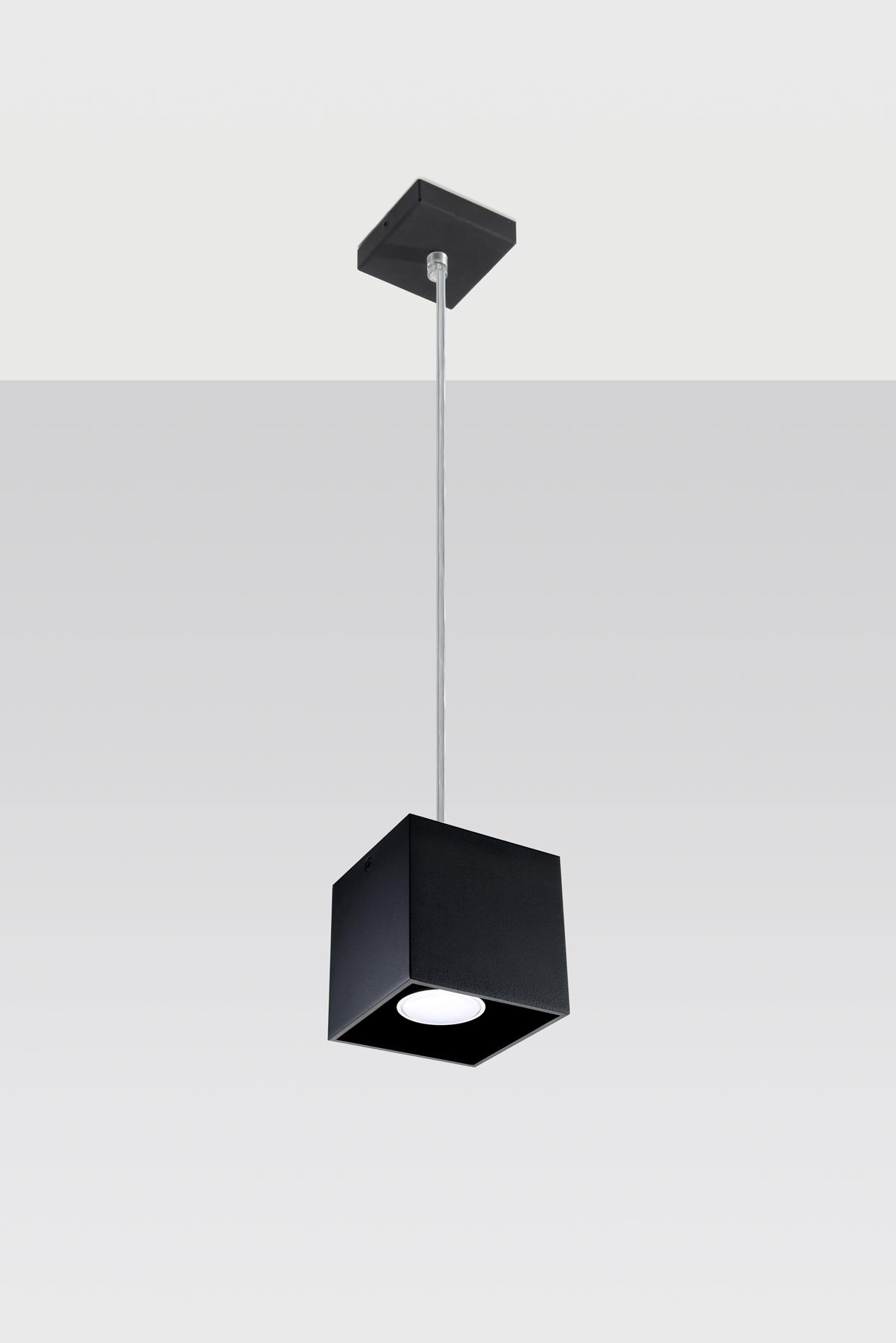 Quad Lampa Wiszaca Czarna Sollux Lighting
